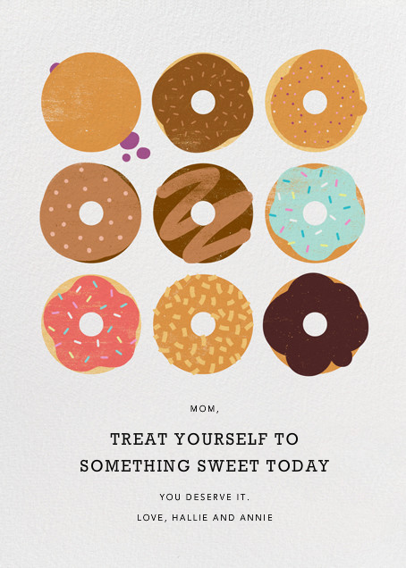 Donuts - Technicolor - Paperless Post - Mother's Day