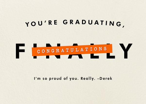 You're Graduating - Derek Blasberg - Congratulations