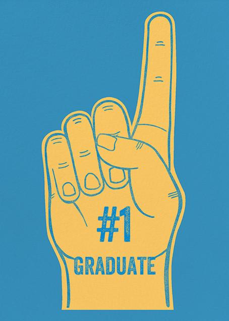 Foam Number One Hand - Paperless Post - Graduation