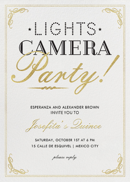 Lights, Camera, Party - Crate & Barrel - Birthday