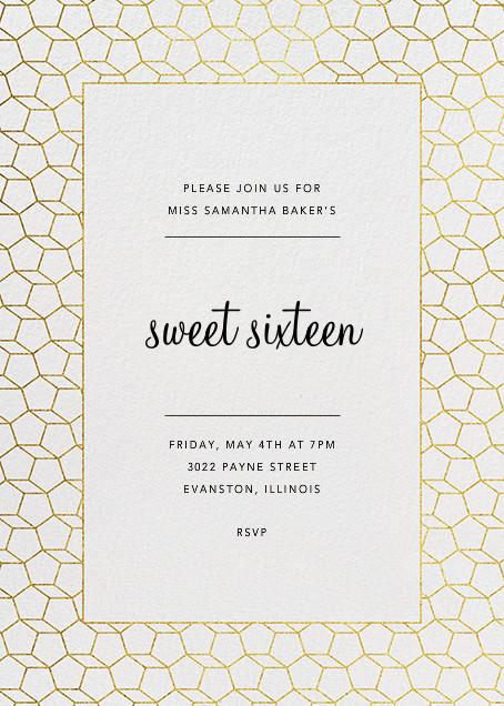 Fullerene - Gold - Paperless Post - Birthday