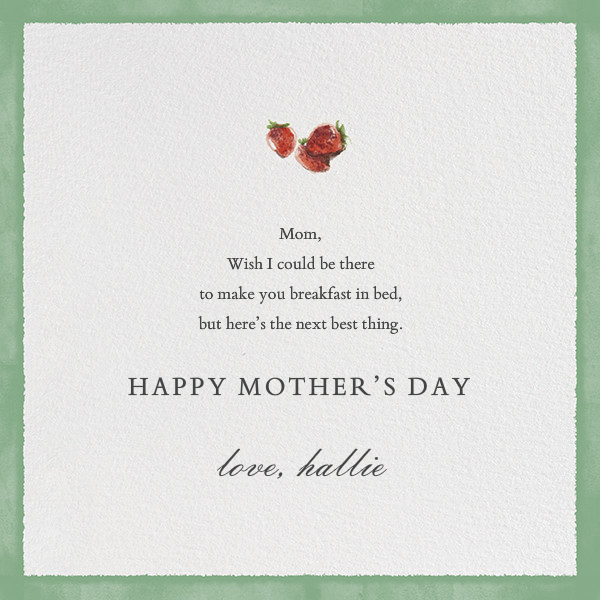 Breakfast in Bed - Paperless Post - Mother's Day - card back