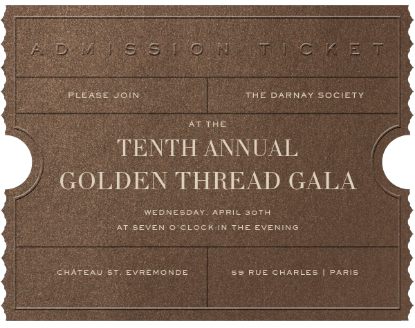Golden Ticket - Bronze - Paperless Post - Charity and fundraiser