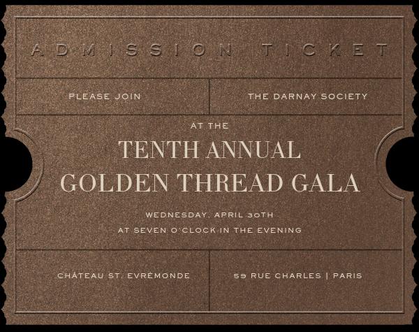 Golden Ticket - Bronze - Paperless Post