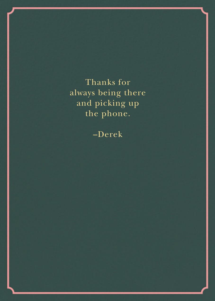 Because of You - Derek Blasberg - Just because - card back