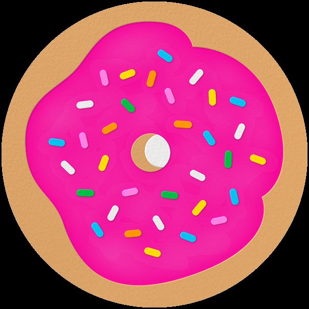 Donut - Bright Pink - The Indigo Bunting
