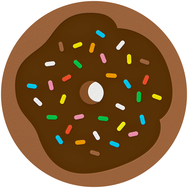 Donut - Brown - The Indigo Bunting - Kids' birthday