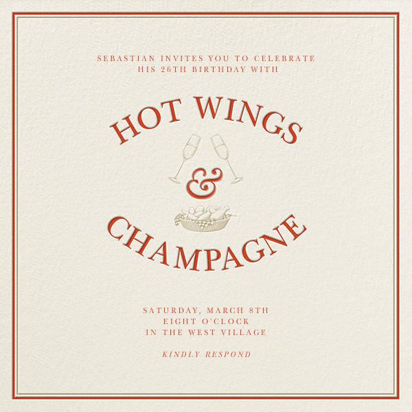 Hot Wings and Champagne - Derek Blasberg - null
