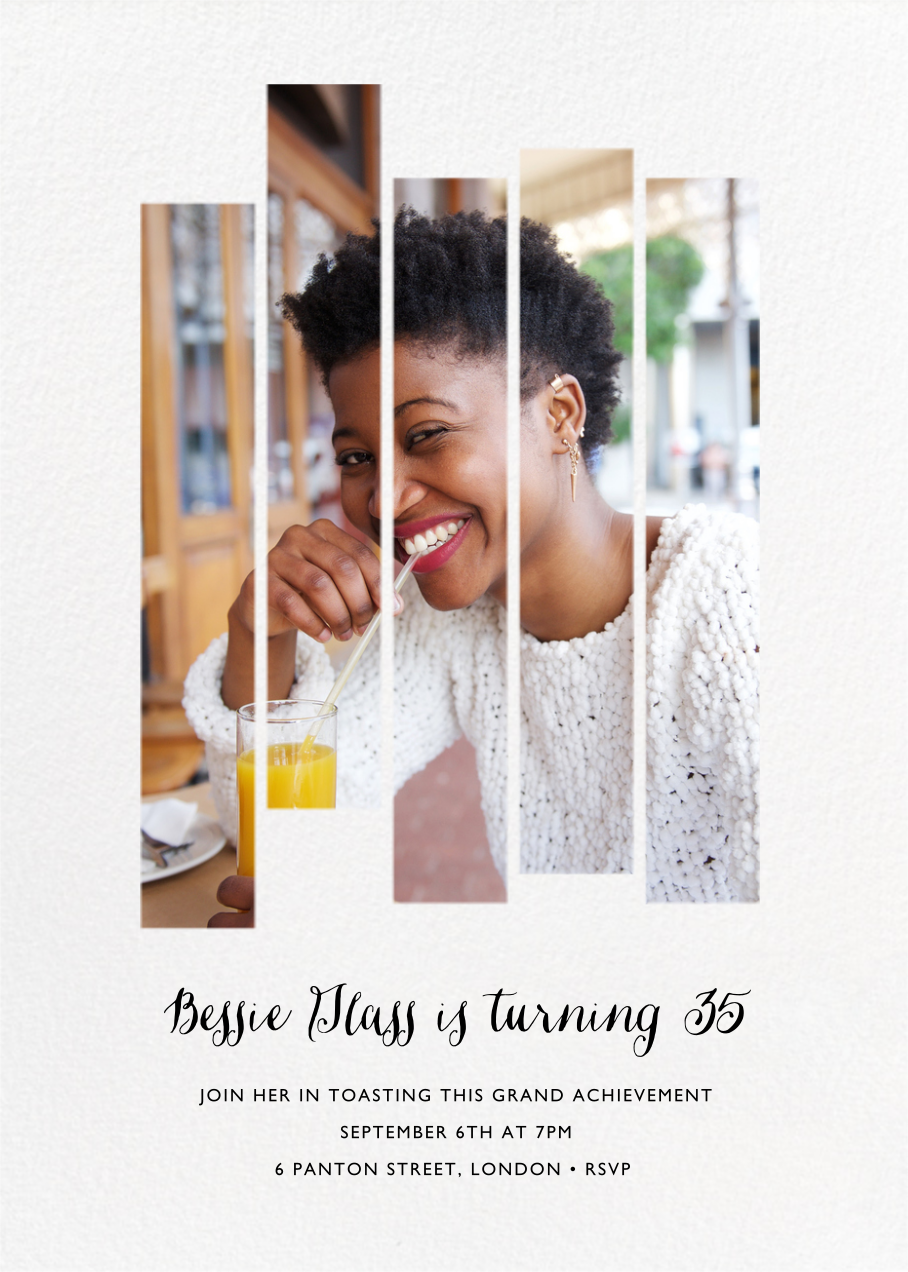 Five Dancing Photo Strips - Paperless Post - Adult birthday