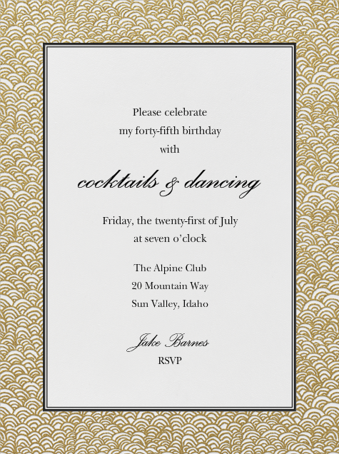 Naive Wave - Gold - Paperless Post - Adult birthday