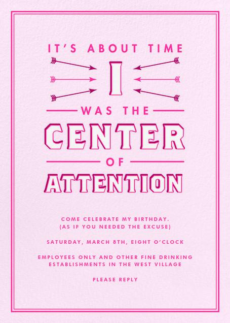 Center of Attention - Pink - Derek Blasberg - null