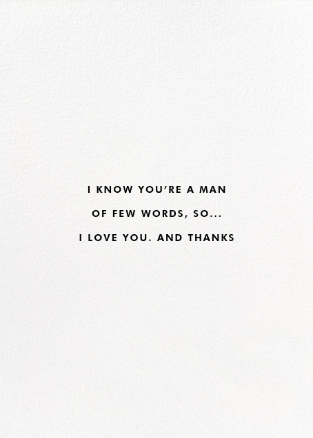Professor Dad - kate spade new york - Father's Day - card back