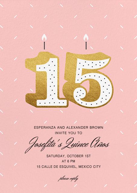 Fifteen Candles - Paperless Post - Quinceañera