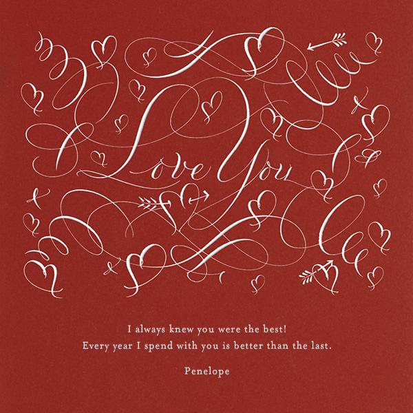 Love You - Crimson - Bernard Maisner - Love cards