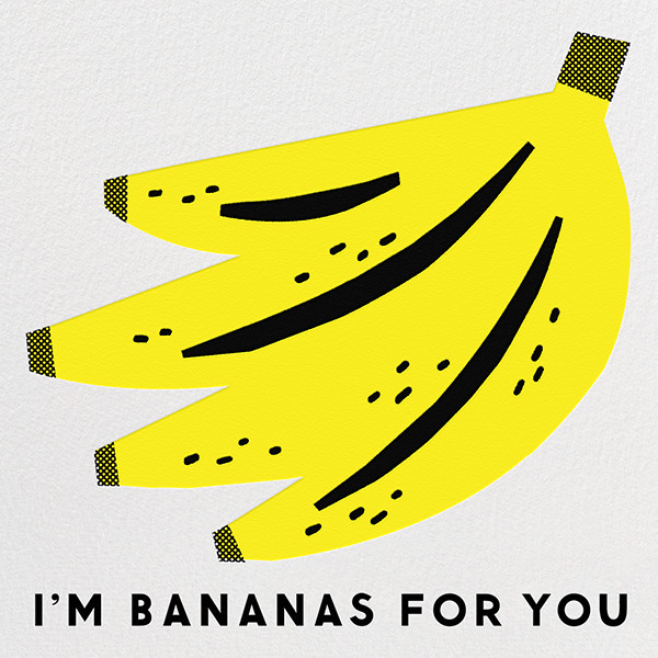 Bananas For You  - The Indigo Bunting - Love cards