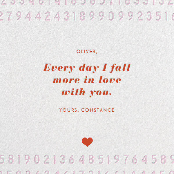 One in a Million - Paperless Post - Love cards - card back