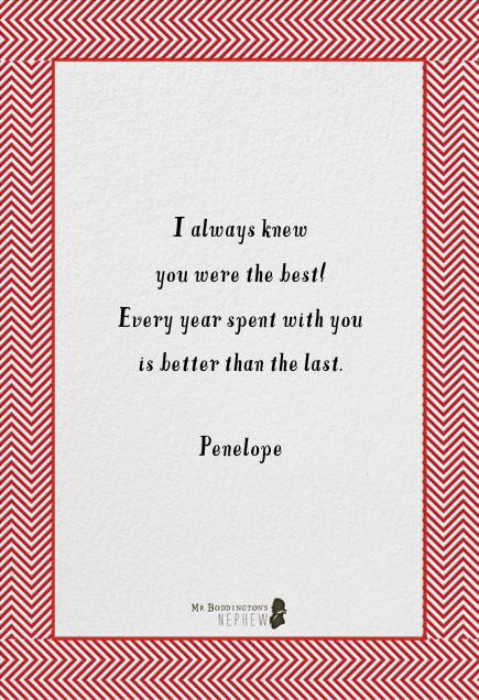 I Couldn't Love You More - Mr. Boddington's Studio - Love cards - card back