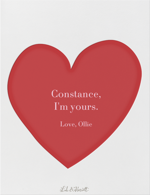 Sending Hearts - Linda and Harriett - Love cards - card back