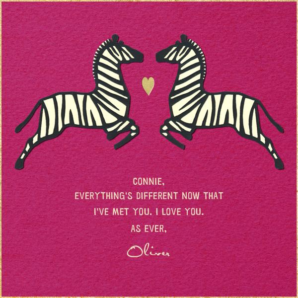 Zebra Love - Paperless Post - Love cards