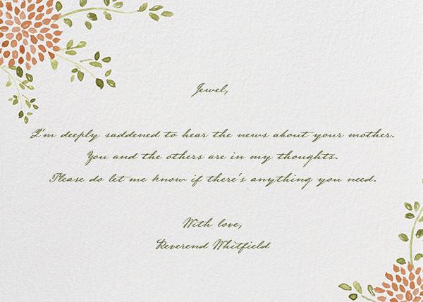 Dahlias (Thank You) - Pumpkin  - Paperless Post - Sympathy
