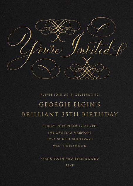 You're Invited - Black - Bernard Maisner
