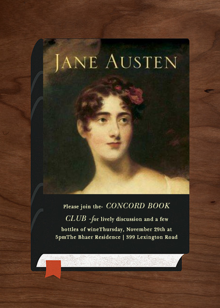 Never Judge A Book - Paperless Post - Book club