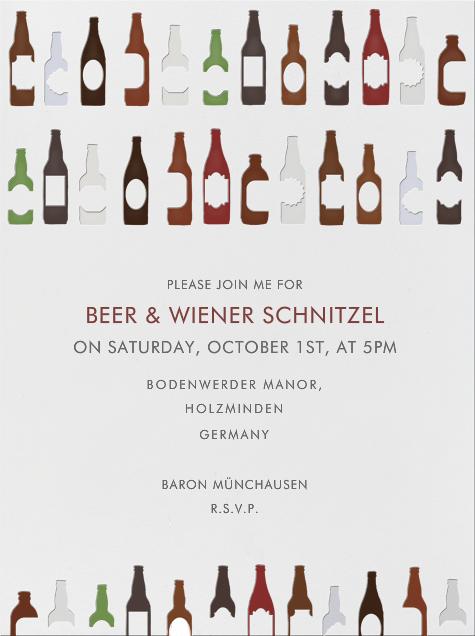 99 Bottles - Paperless Post - Oktoberfest