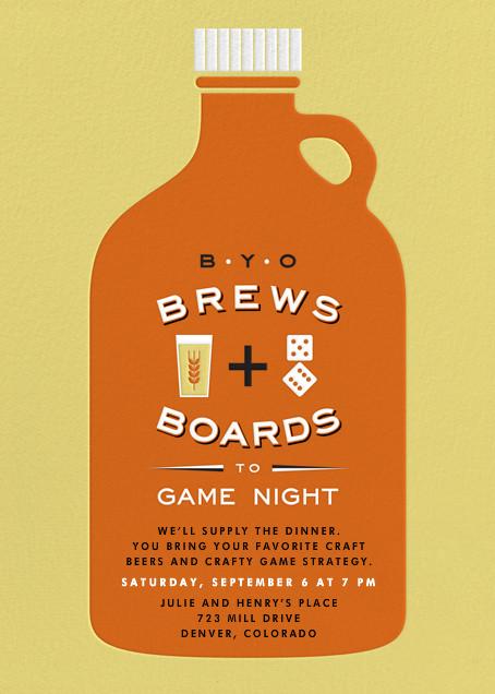 BYOB Game Night - online at Paperless Post