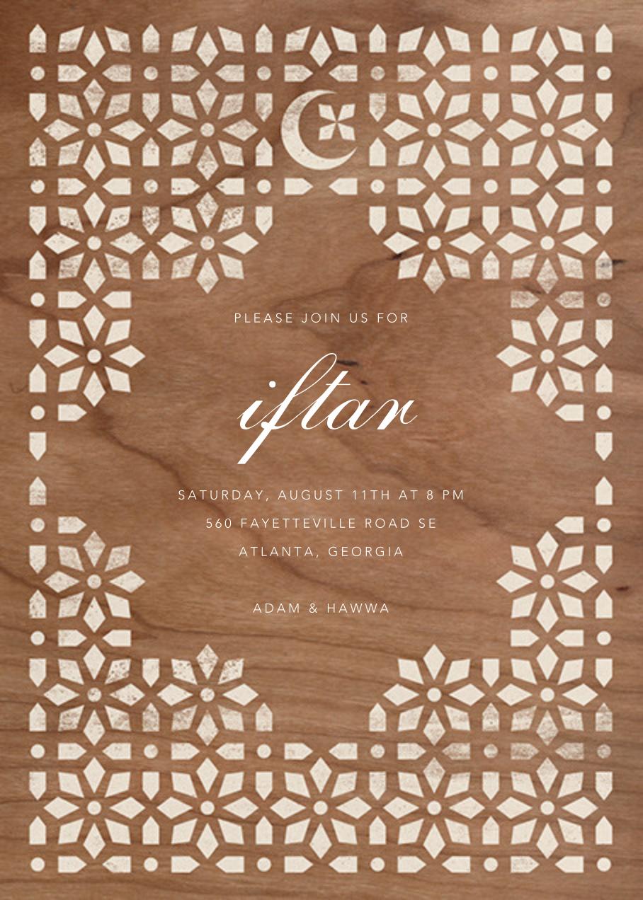 Jali - Woodgrain - Paperless Post - Ramadan