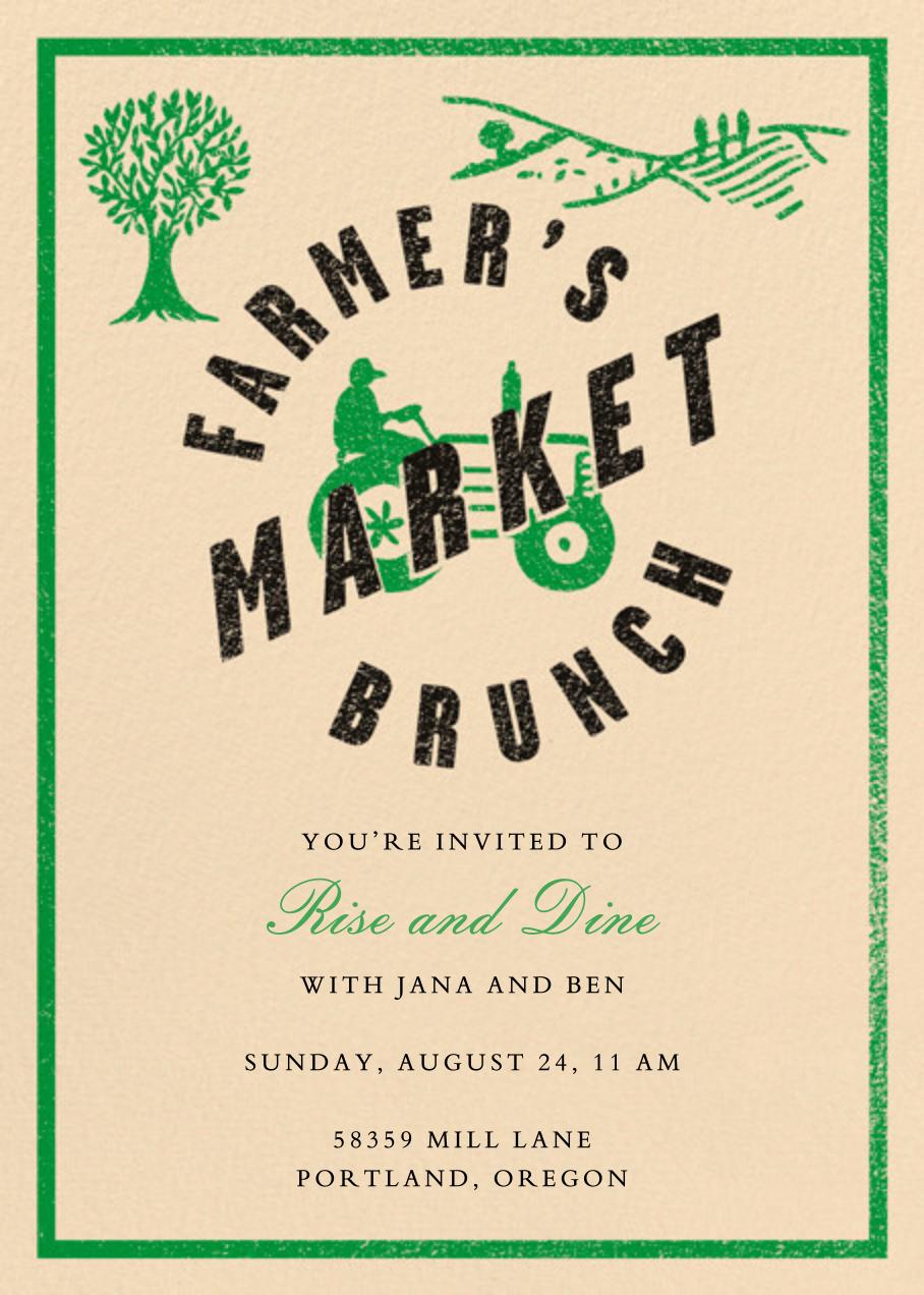 Farmer's Market Brunch - Crate & Barrel - Brunch
