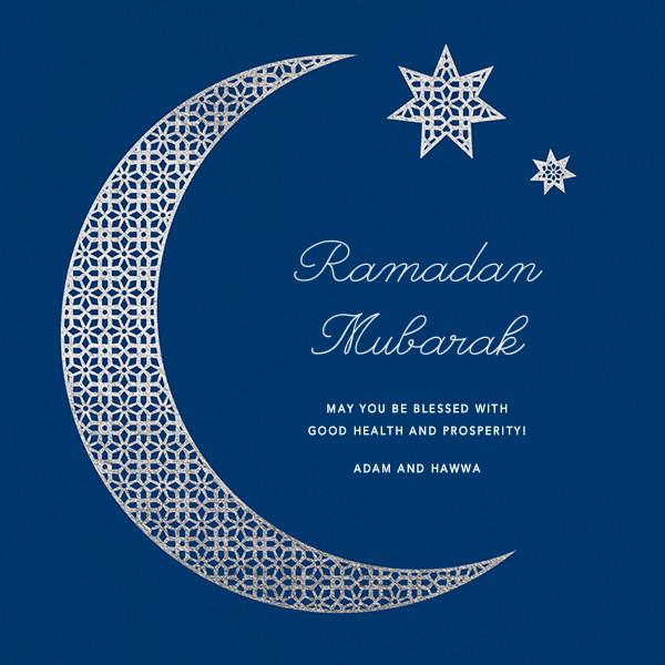 Lattice Crescent Moon - Paperless Post - Ramadan and Eid