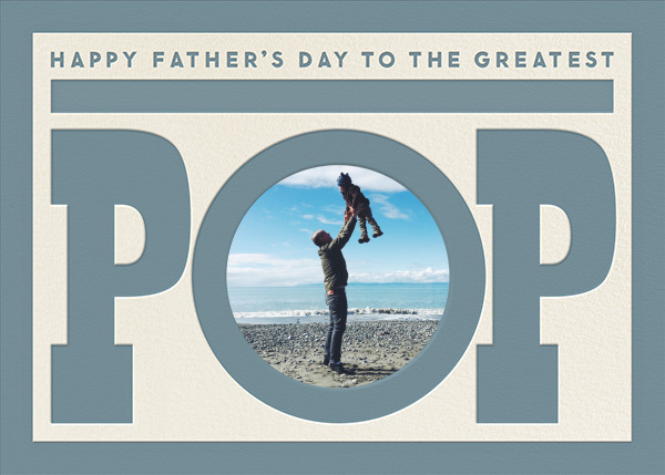 To The Greatest Pop - Blue - The Indigo Bunting - Father's Day
