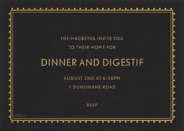 Dotted Border - Black - Bernard Maisner - Dinner party