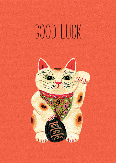 Good Luck Kitty (Becca Stadtlander) - Red Cap Cards - Good luck