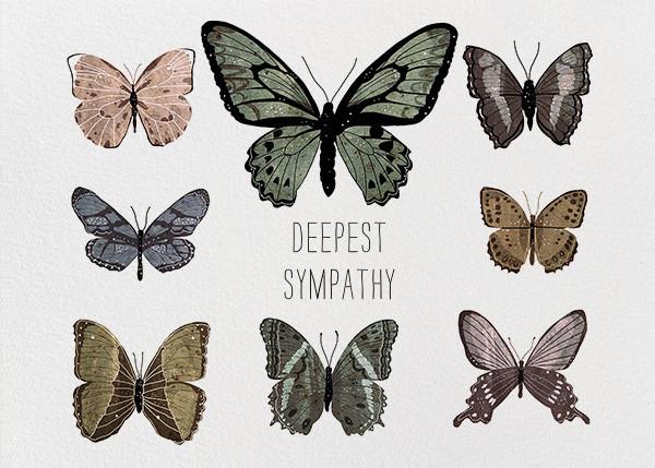 Butterflies (Josie Portillo) - Red Cap Cards - Sympathy