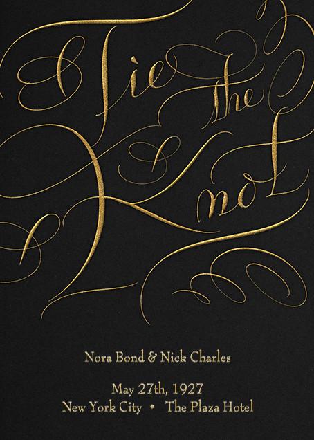 Tie The Knot Script - Black - Bernard Maisner - null