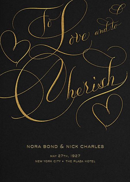 To Love And To Cherish - Black - Bernard Maisner - null