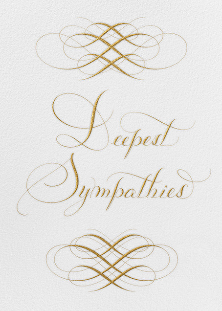 Deepest Sympathies - Ivory - Bernard Maisner - Sympathy