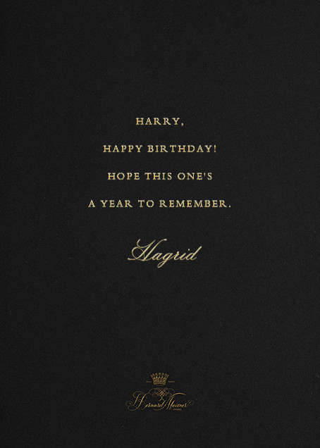 Here's To Many More - Black - Bernard Maisner - Birthday - card back