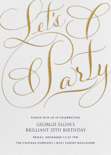 Let's Party Script - Ivory - Bernard Maisner - Adult birthday