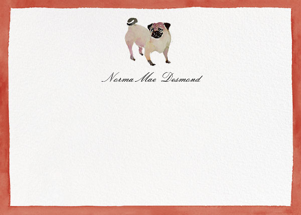 Mr. Pugsly - Happy Menocal - Personalized stationery