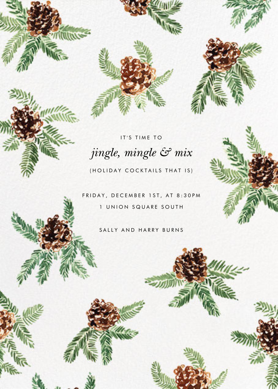 Painted Pine Cones - Paperless Post - Winter parties