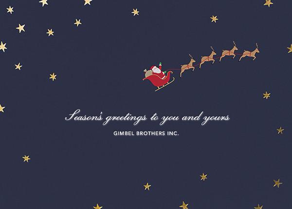 Nightly (Christmas) - Gold - Paperless Post - Christmas