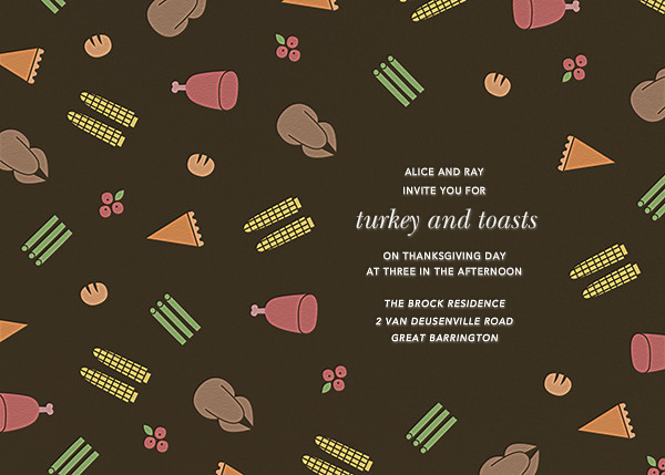 Turkey Ditsy  - Paperless Post