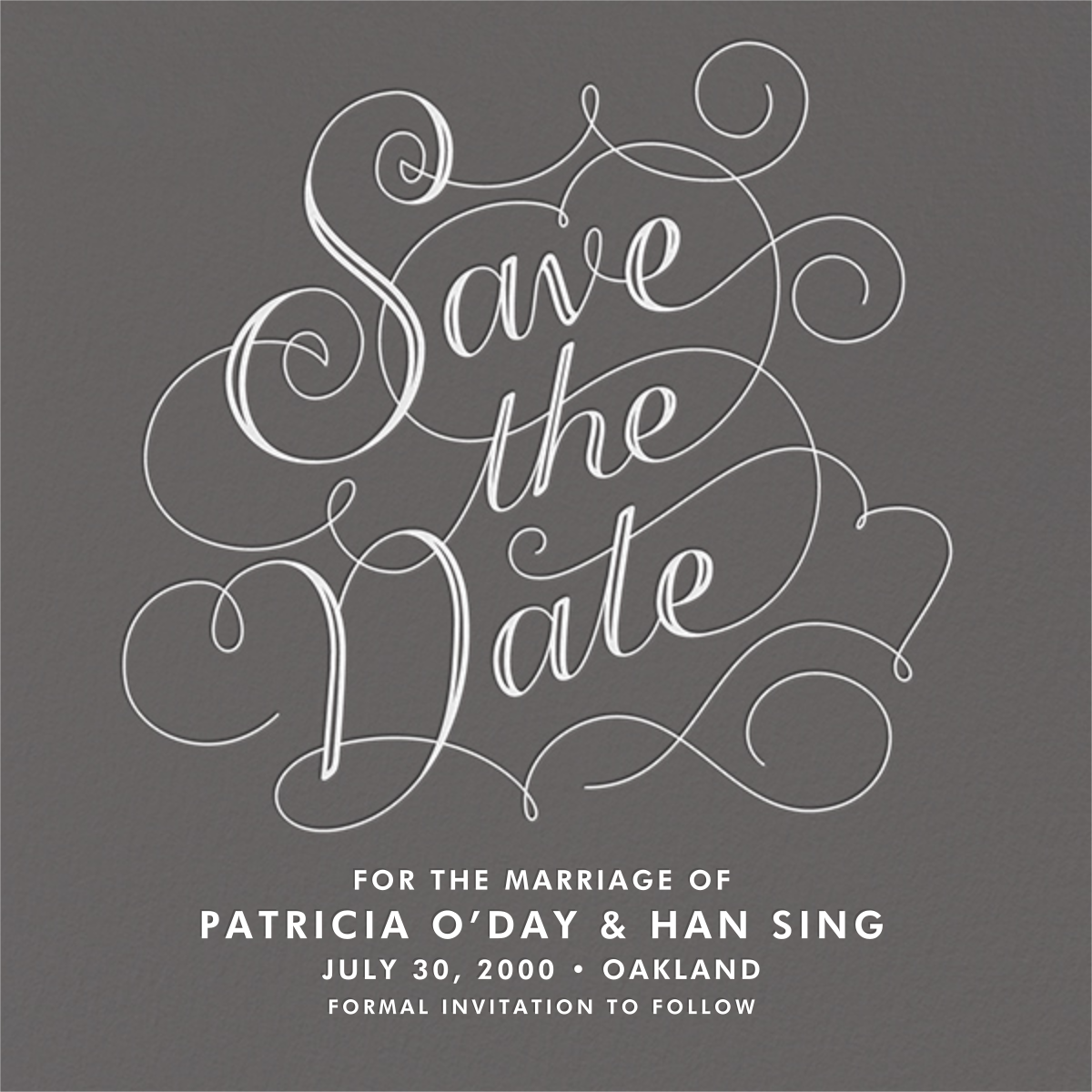 Traditional Fancy - Crate & Barrel - Party save the dates