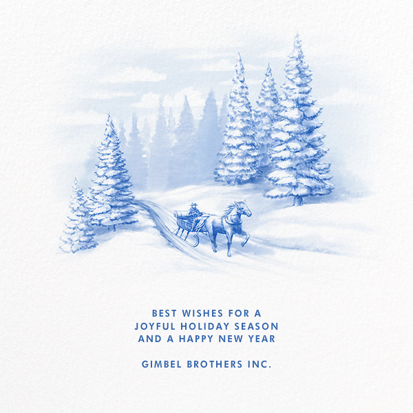 Through The Woods - Paperless Post - Holiday cards