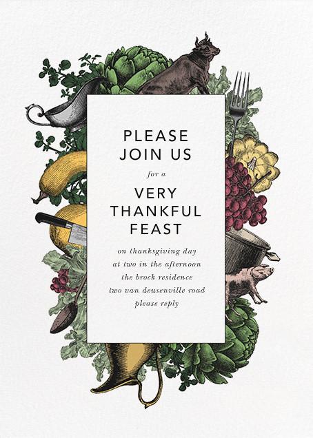Farmer's Feast - Paperless Post - Autumn entertaining