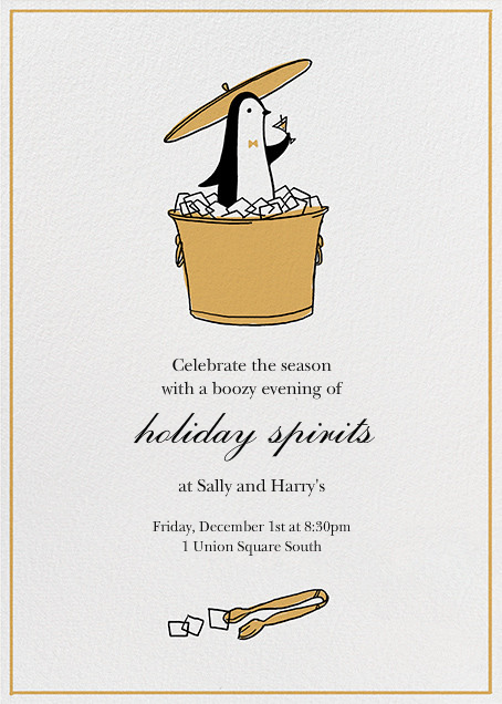 Butler in the Ice Bucket - Apricot - Paperless Post - Holiday party