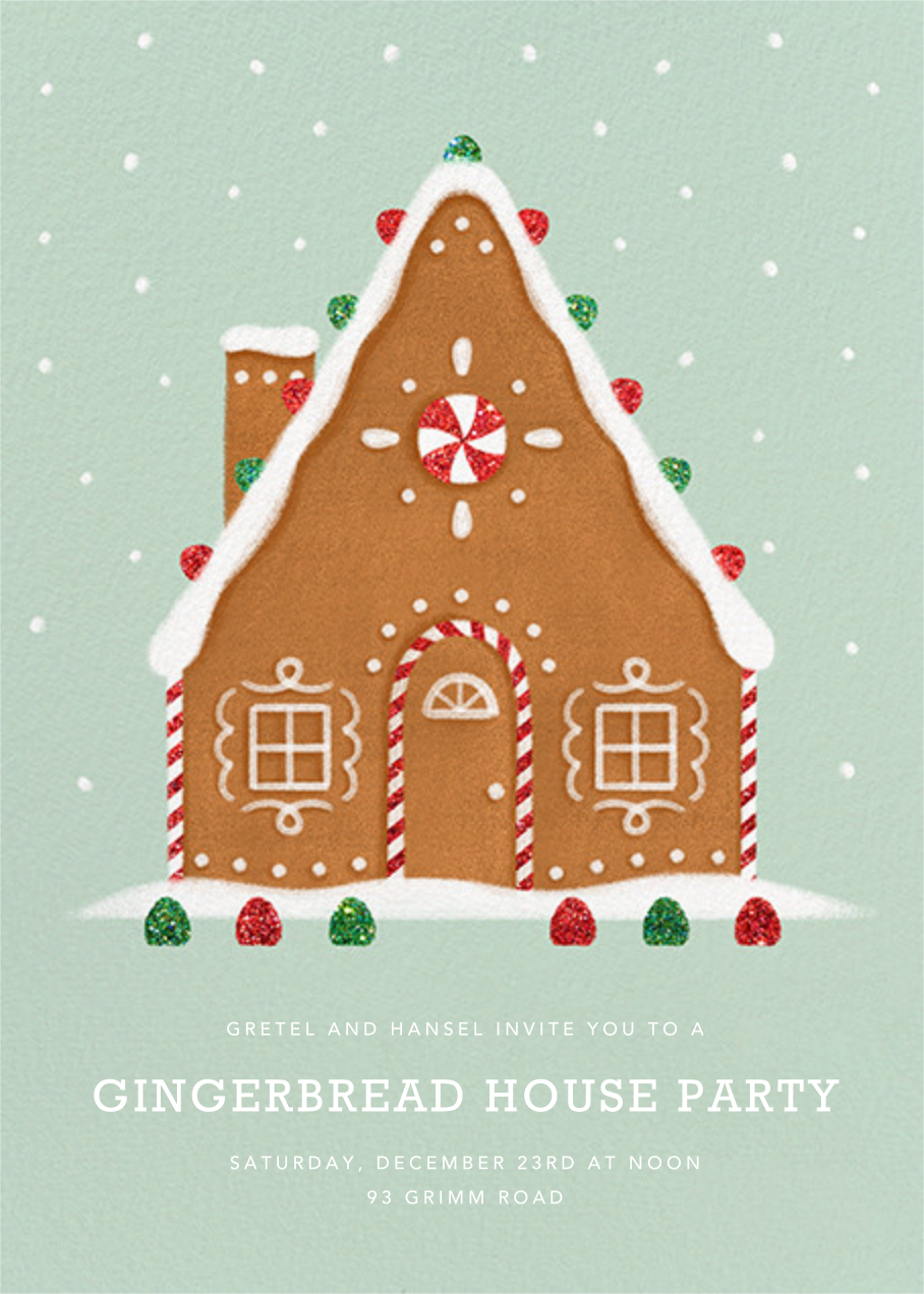 Gingerbread Chalet - Paperless Post - Christmas party