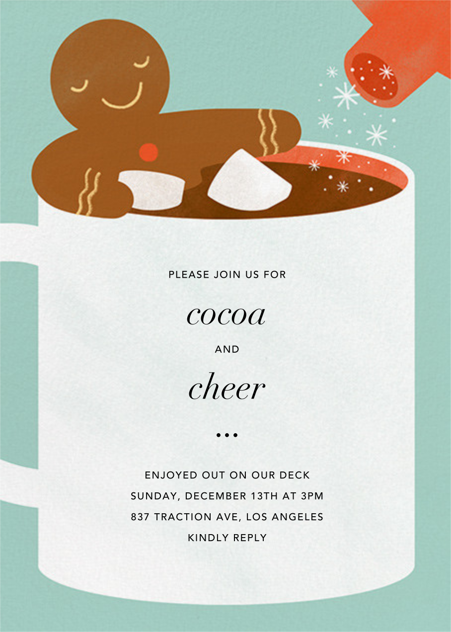 Cocoa Tub - Paperless Post - Holiday party